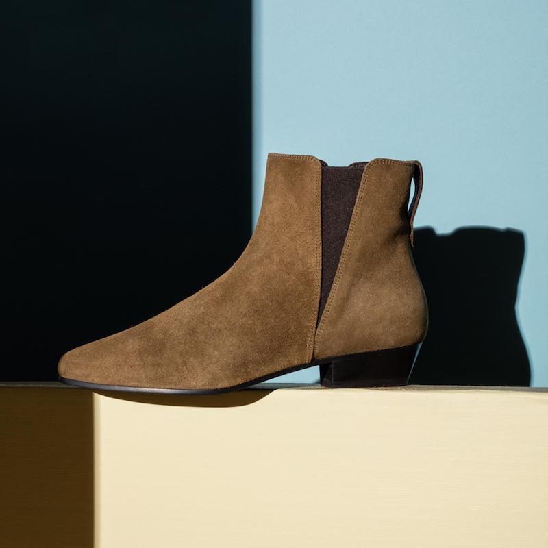 Isabel Marant Étoile Patsha Calfskin Velvet Boots