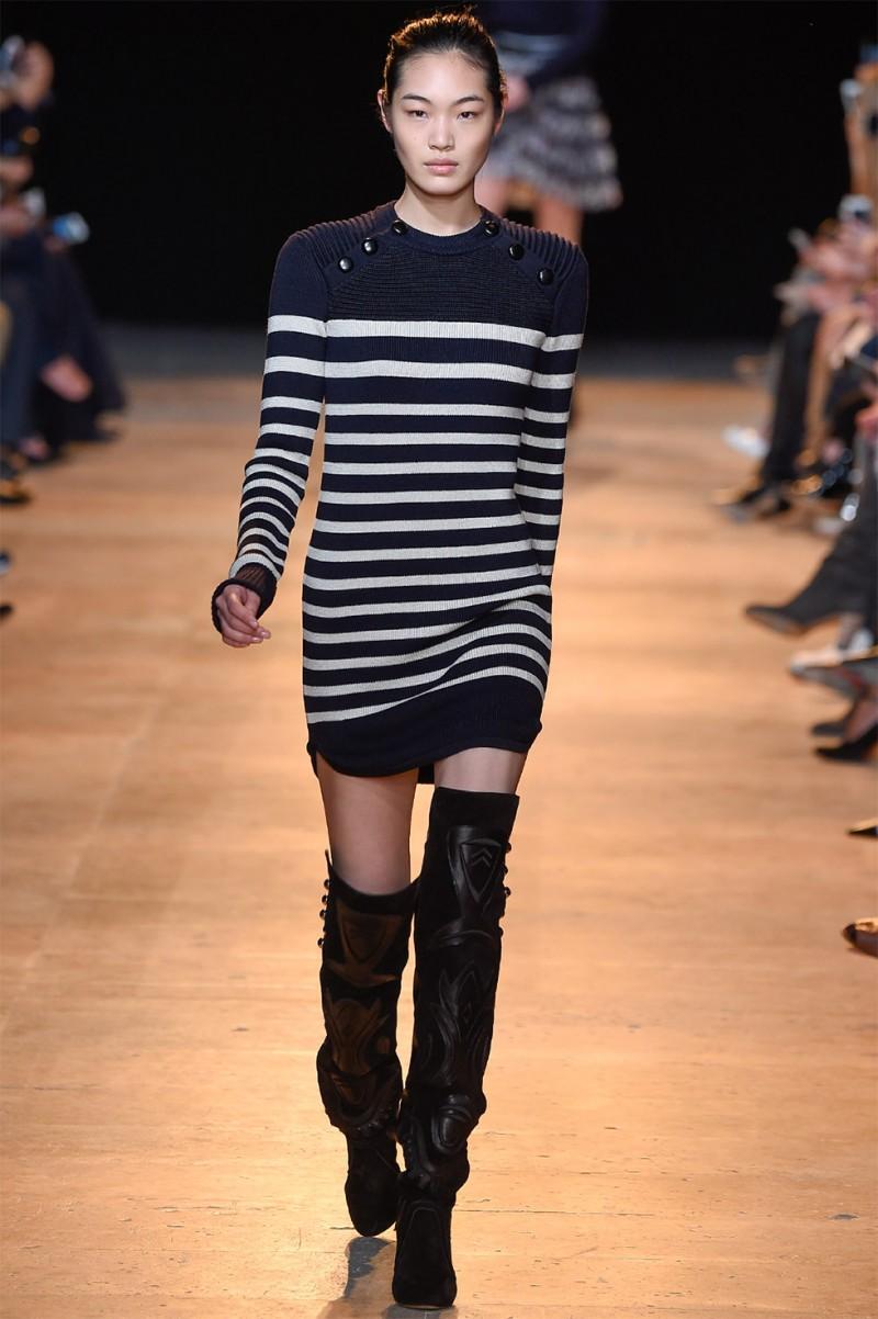 Isabel Marant Haeza striped knit mini dress