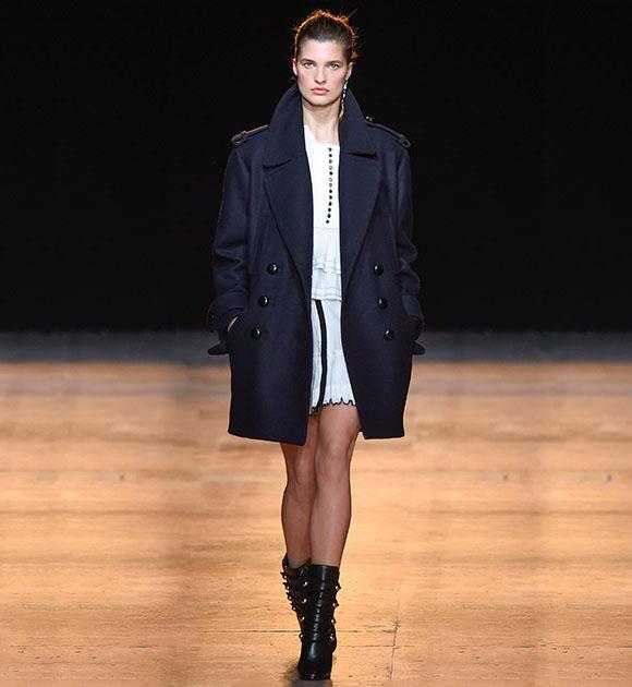 Isabel Marant Karly wool-blend pea coat