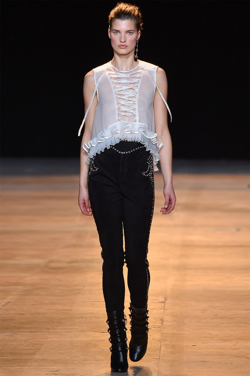 Isabel Marant Vienna lace-front silk top