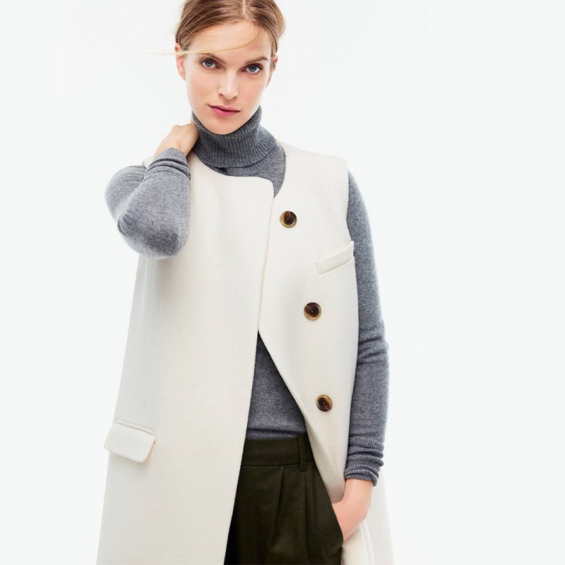 J.Crew Collection Double-faced sleeveless coat