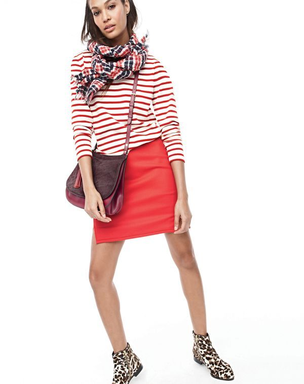 J.Crew Double-notch mini skirt width=