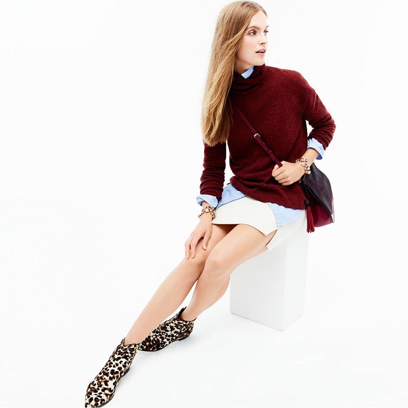 J.Crew Relaxed turtleneck sweater
