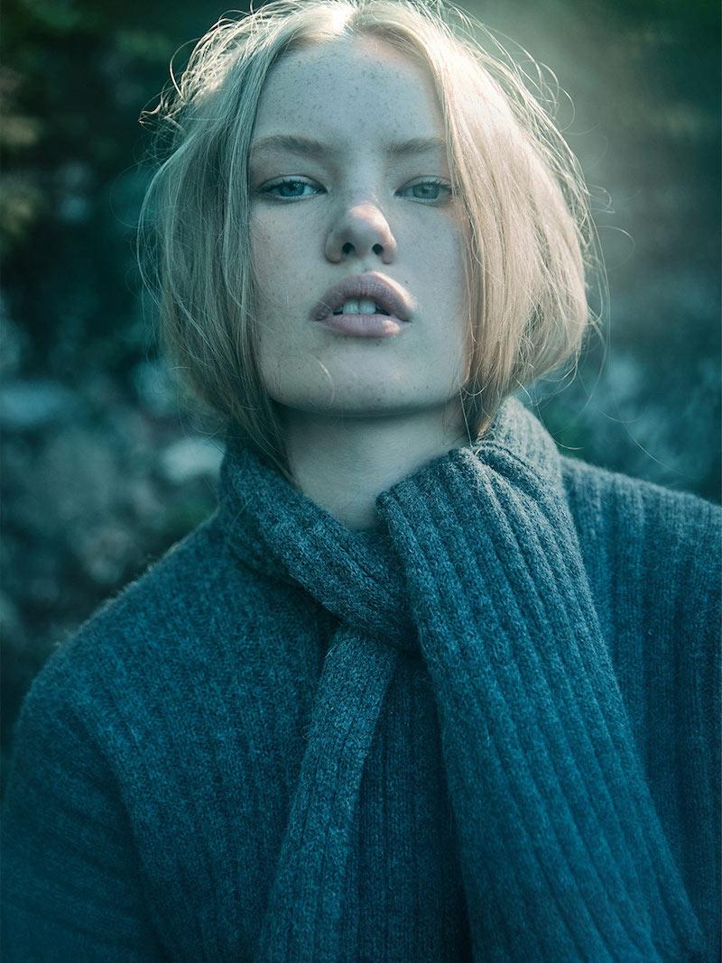 J.W. Anderson Wool Alpaca Chunky Sweater with Scarf