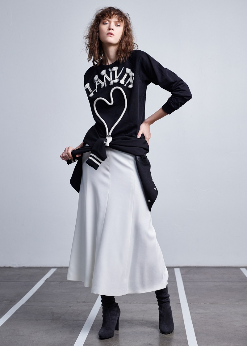Lanvin Logo Embroidered Sweatshirt
