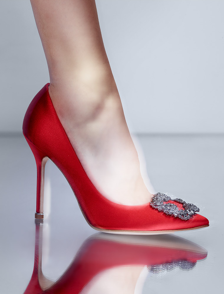 Manolo Blahnik Hangisi Jeweled Pump