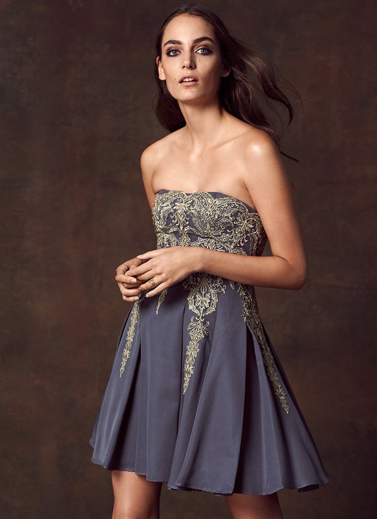 Marchesa Notte Strapless Dress