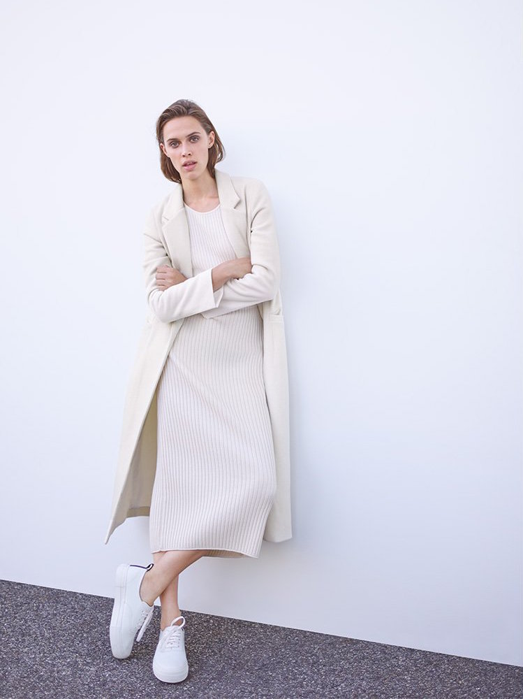 Mason by Michelle Mason Single Breasted Maxi Coat