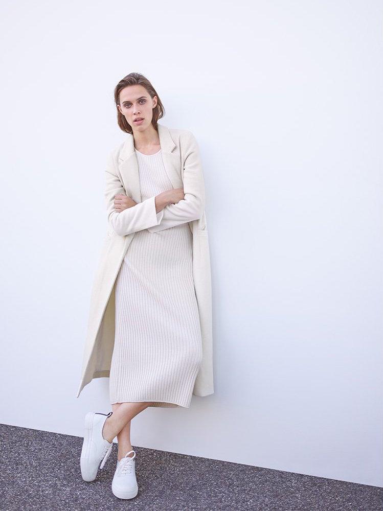 Mason by Michelle Mason Single Breasted Maxi Coat