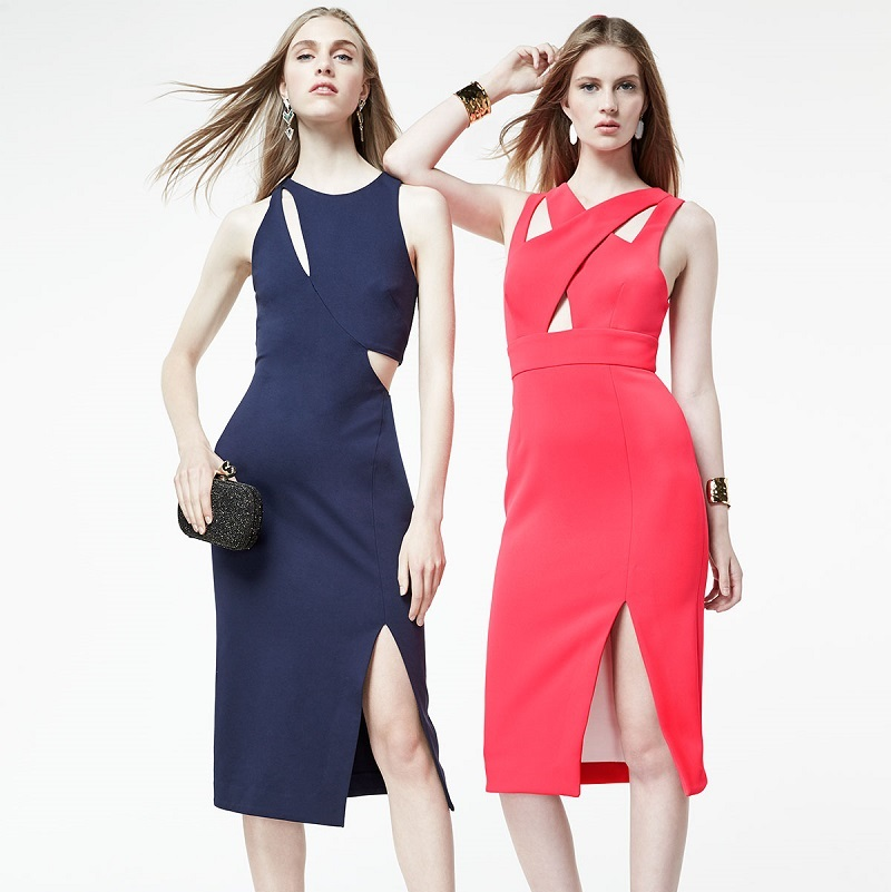 N Nicholas Sleeveless Ponte Curve Splice Dress