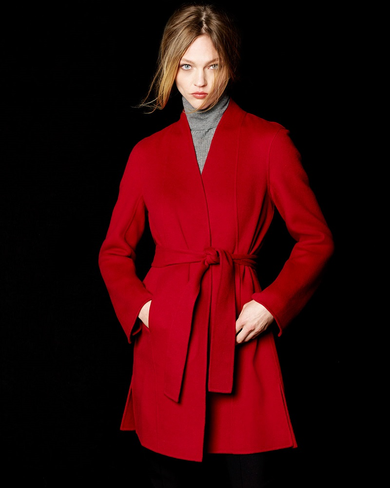 Neiman Marcus Cashmere Collection Double-Face Woven Cashmere Coat