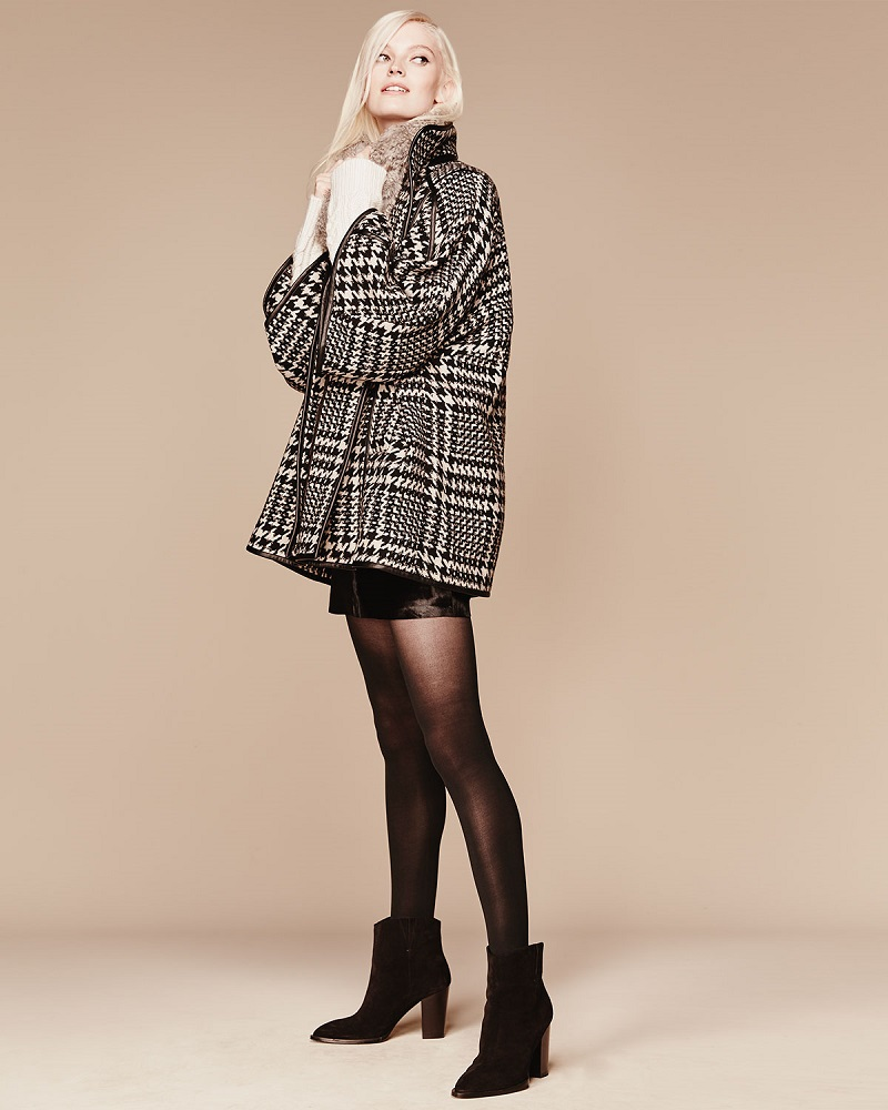 Parker Plaid-Houndstooth Leon Coat