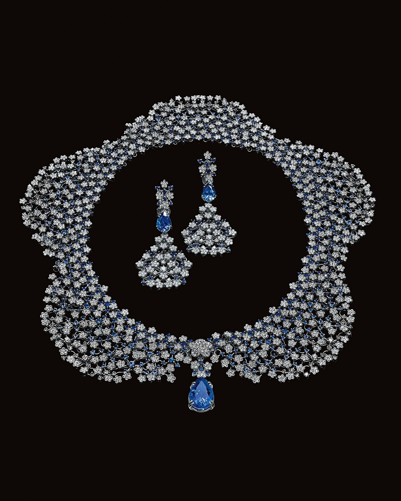 Pasquale Bruni Fiore in Fiore Diamond, Sapphire & Tanzanite Necklace & Earrings