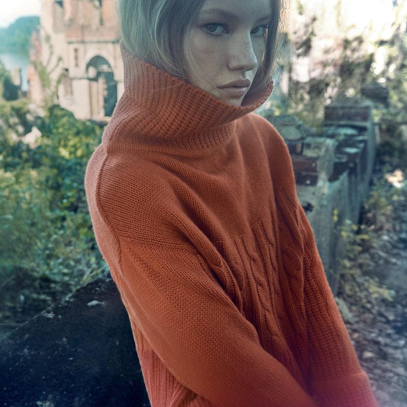 Prabal Gurung Color Block Turtleneck Sweater