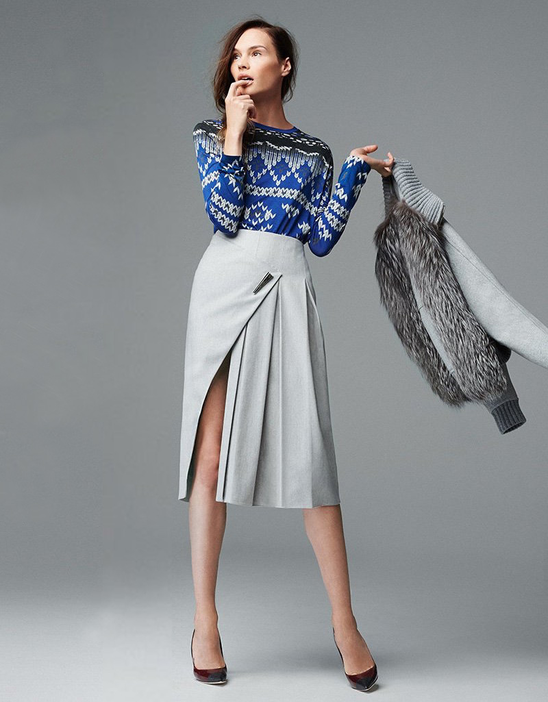 Prabal Gurung Pleated Skirt
