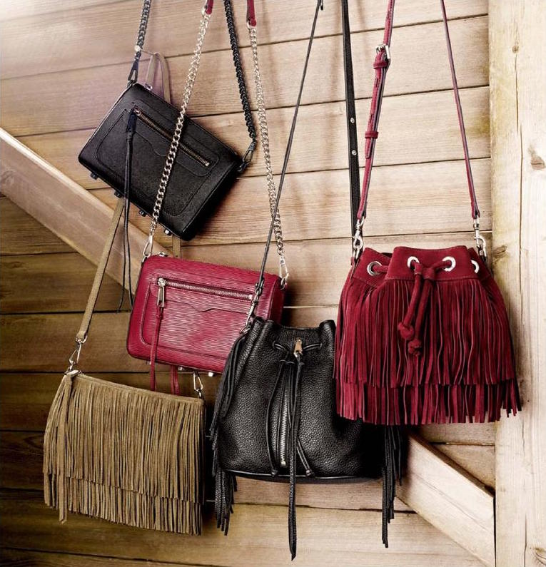 Rebecca Minkoff Mini Fringe Moto Bucket Bag
