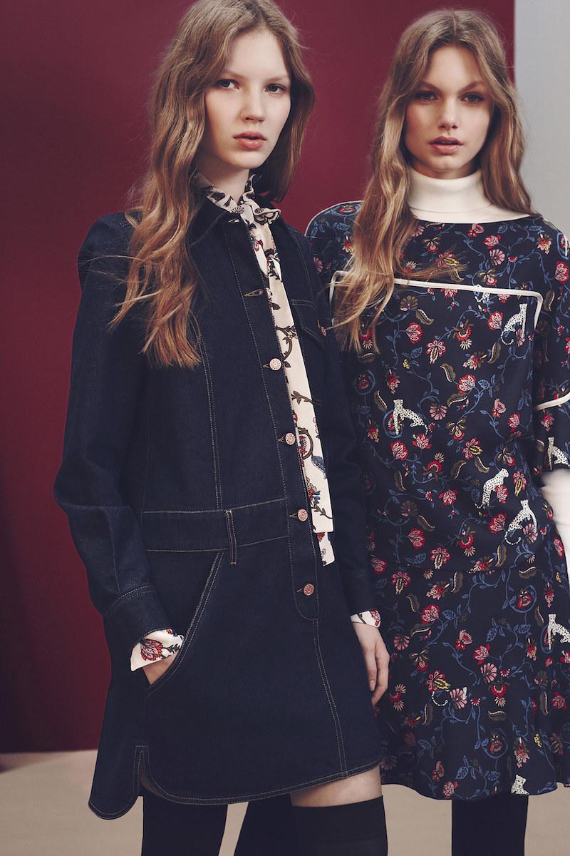 See By Chloé Long-sleeved Cotton-denim Mini Dress