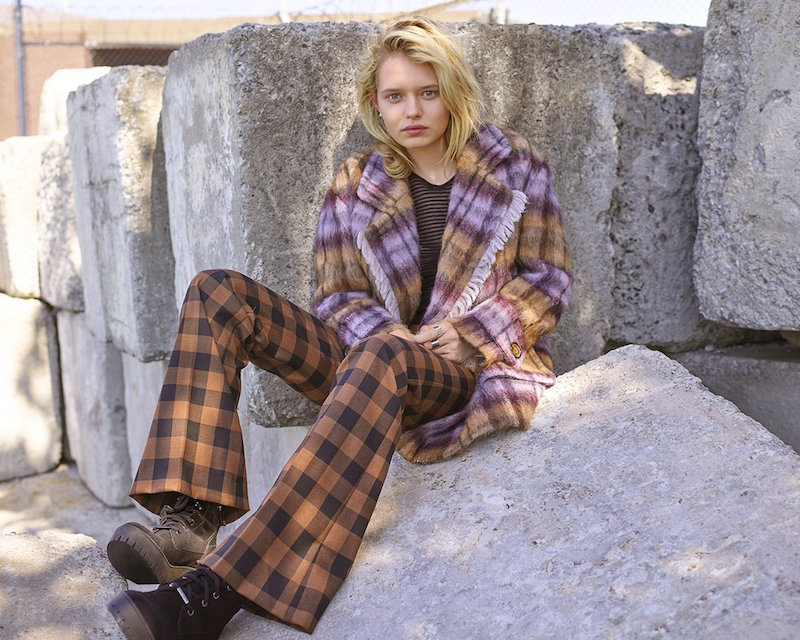 See by Chloé Plaid Pea Coat