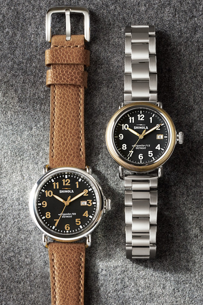 Shinola Runwell 41mm Leather Strap Watch