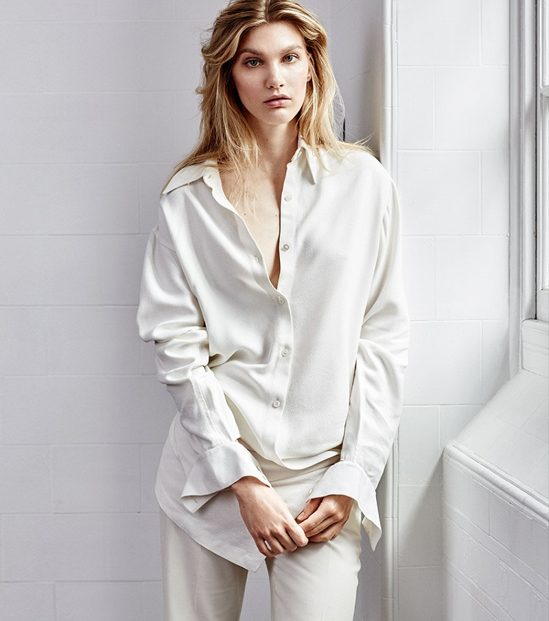 Stella McCartney Belted-front long-sleeved shirt