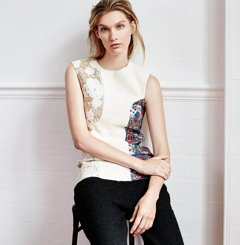 Stella McCartney Harry patchwork sleeveless top