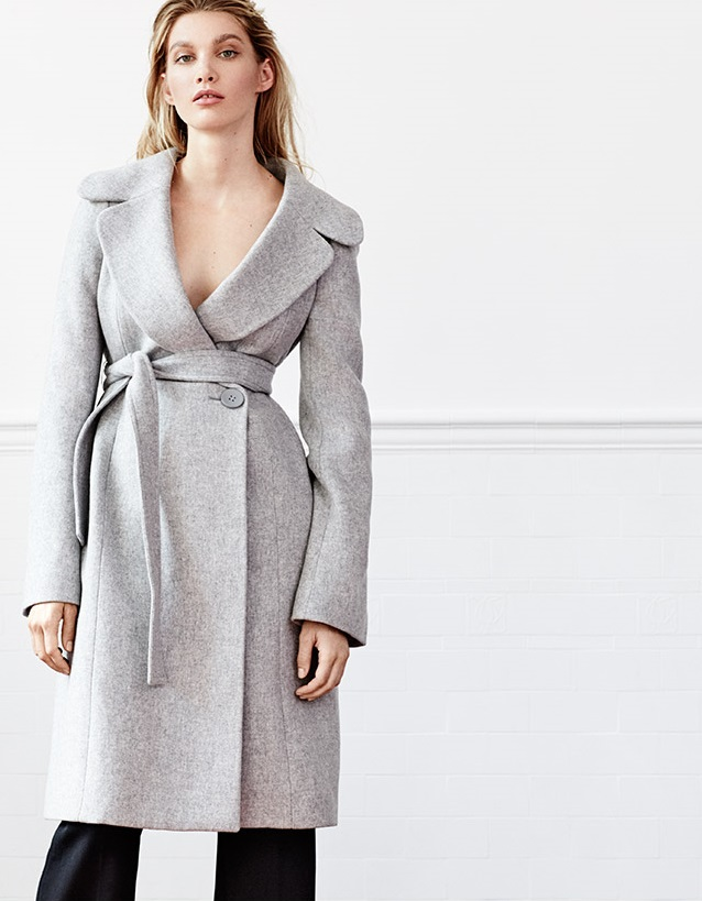 Stella McCartney Paolina wide-lapel wool-blend coat