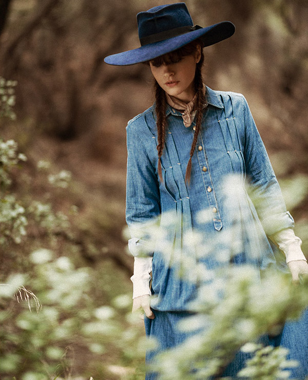 The Great. The Shirt Gown Denim Maxi Dress