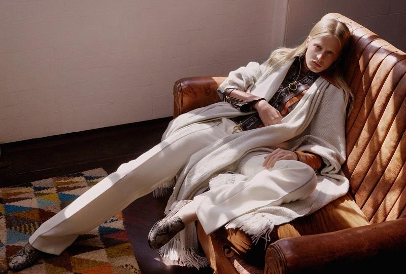 The Row Keyla handwoven cashmere poncho