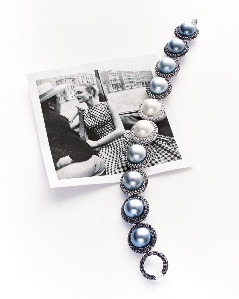 Utopia Gallery South Sea Tahitian Pearl Diamond Bracelet