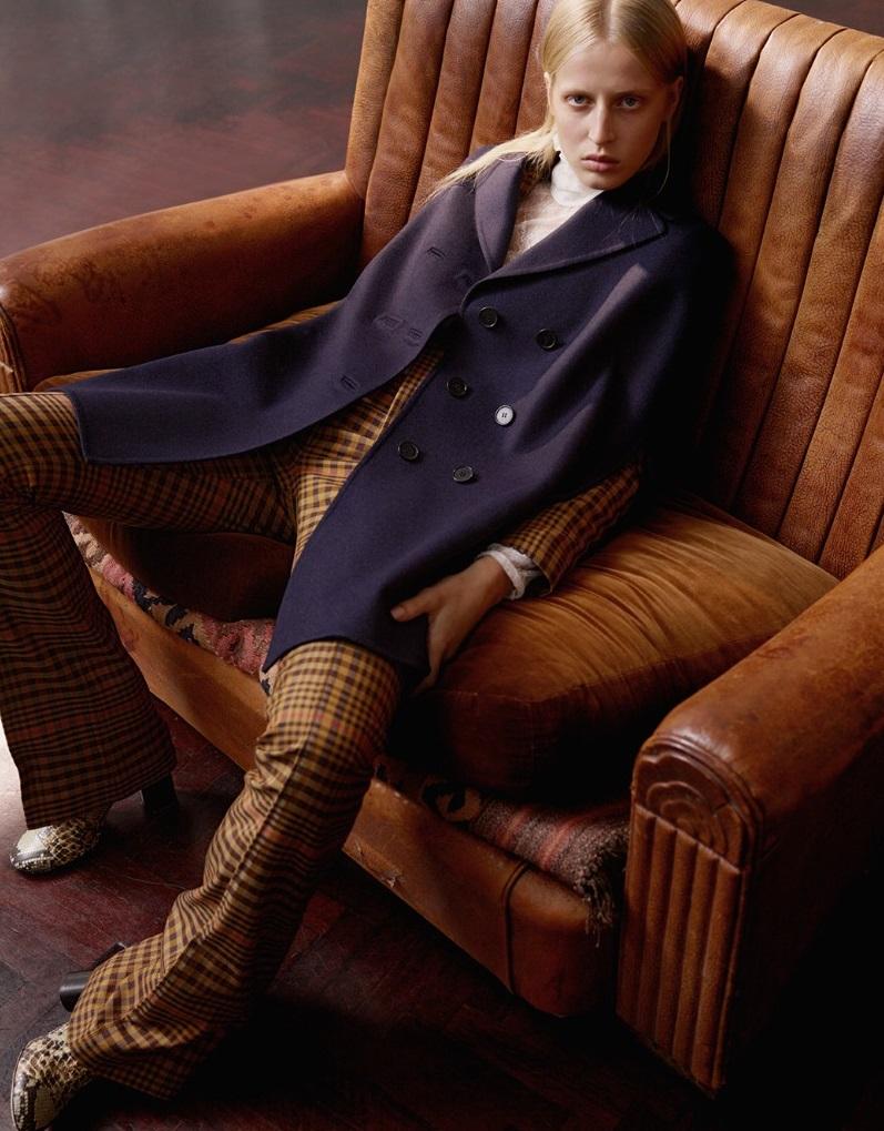 Valentino Notch lapel wool-blend cape