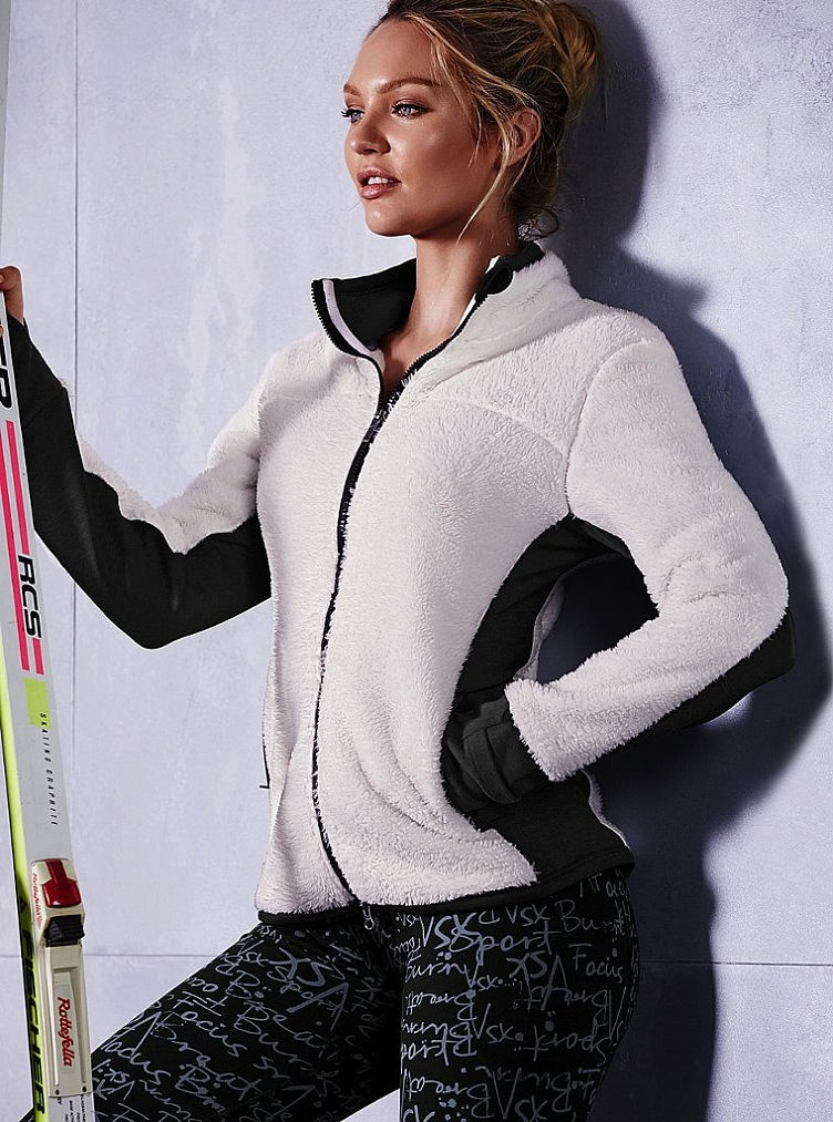 Victoria's Secret Sport Sherpa Zip Jacket