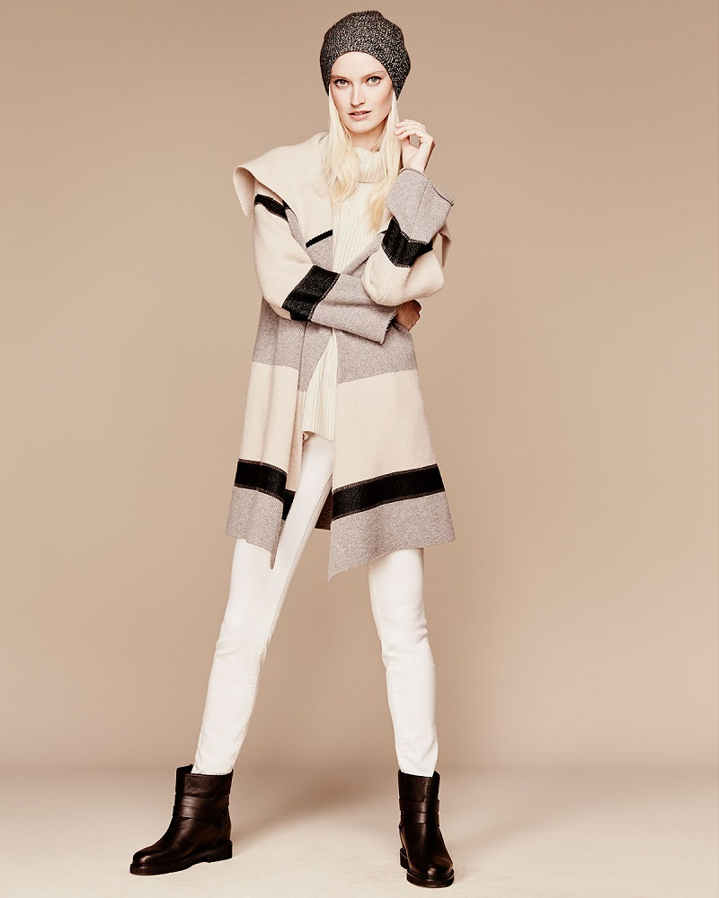 Vince Colorblock WoolCashmere Car Coat