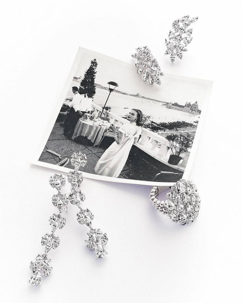 ZYDO Unique 18k White Gold Diamond Drop Earrings