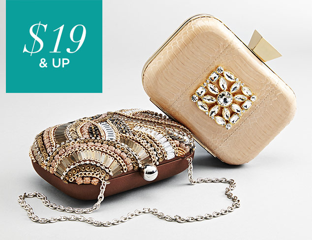 $19 & Up Special Occasion Clutches & Bags at MYHABIT