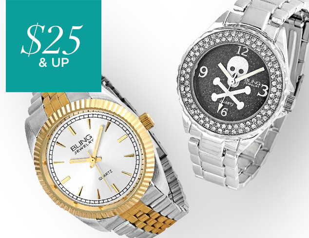 $25 & Up Statement Watches at MYHABIT