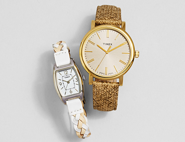 $39 & Under Leather Band Watches feat. Timex at MYHABIT