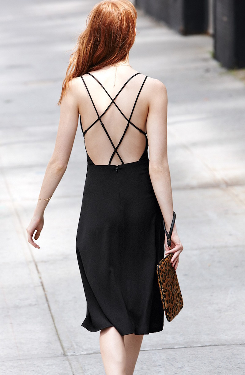 ASTR Cross Back Midi Dress