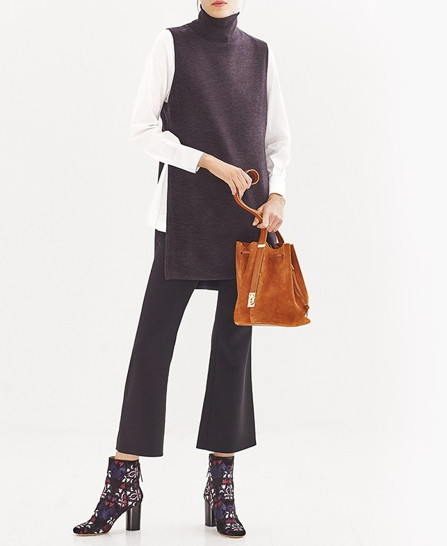 Adam Lippes High-neck wool tunic