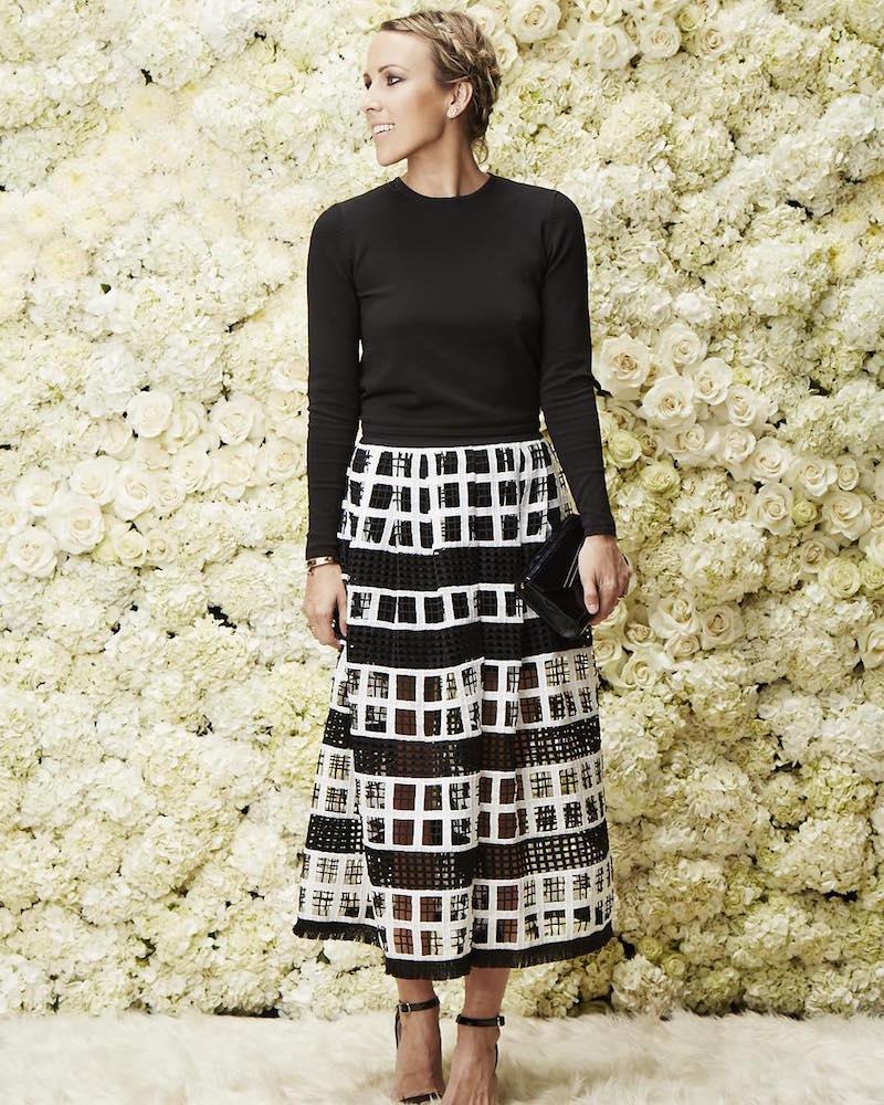 Alexis Albina Crochet Midi Skirt