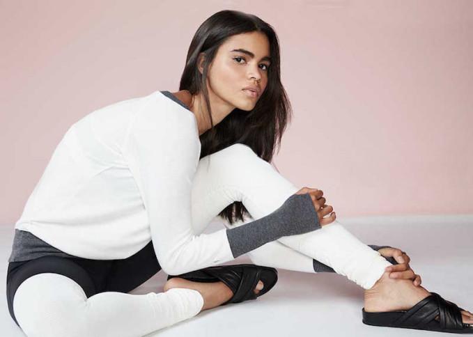 Alo Yoga Goddess Colorblock Ribbed Sport Leggings