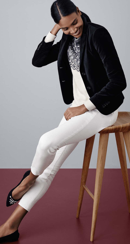 Ann Taylor Embellished Fairisle Sweater