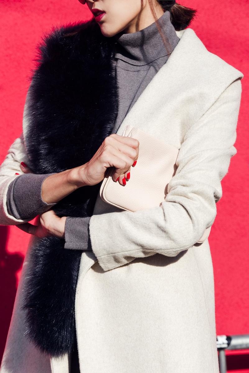 Ann Taylor Faux Fur Scarf