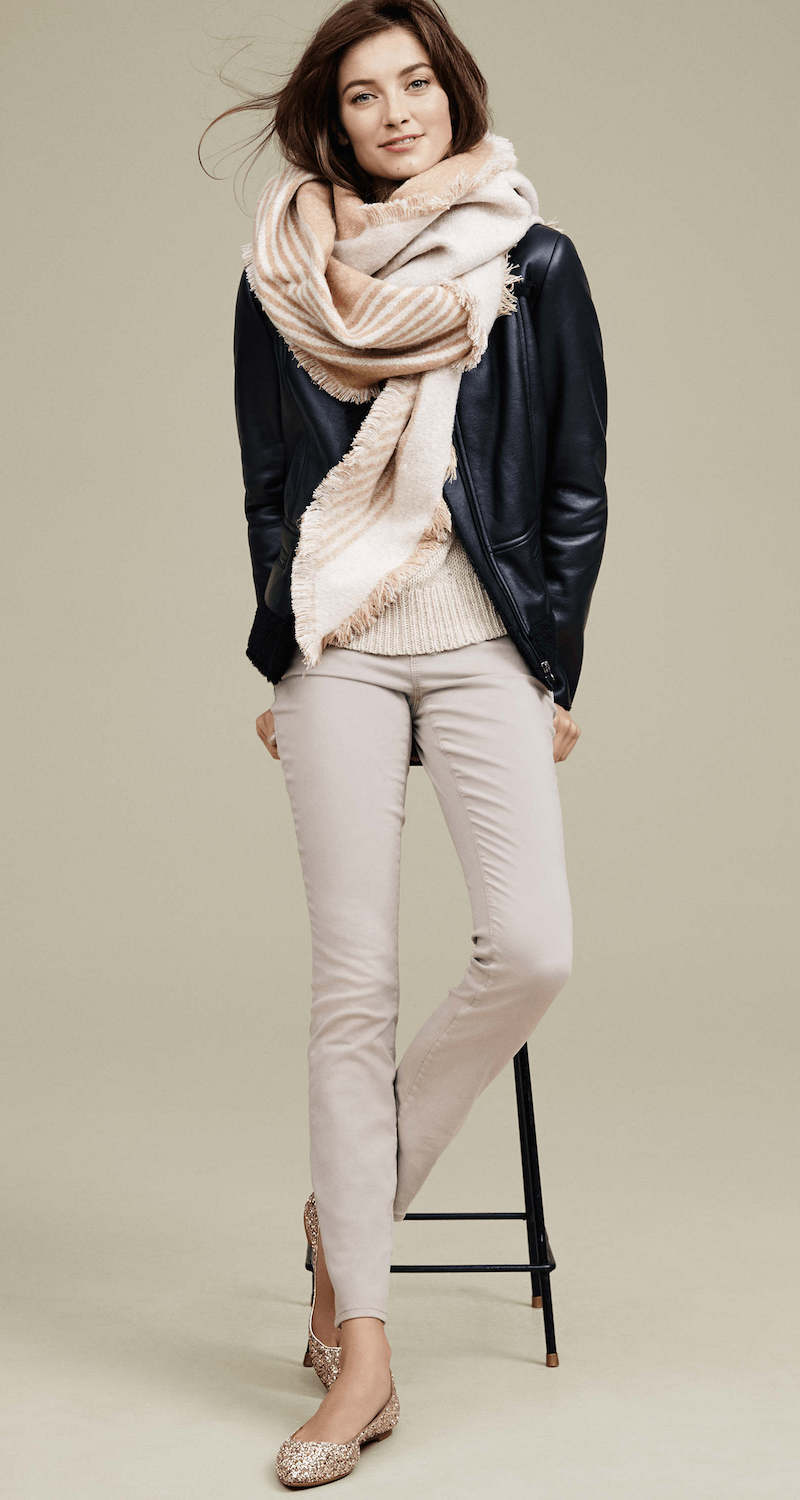 Ann Taylor Faux Leather Shearling Jacket