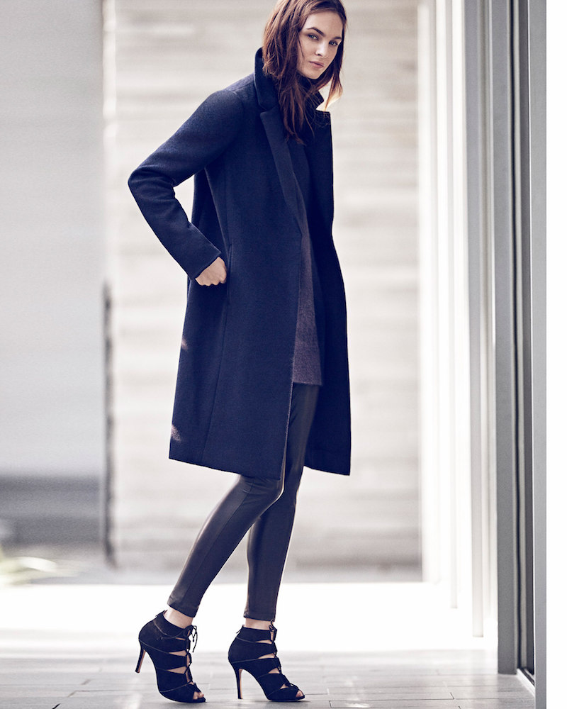 Ann Taylor Signature Wool Blend Coat