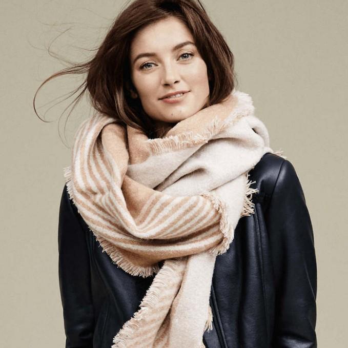 Ann Taylor Striped Blanket Scarf