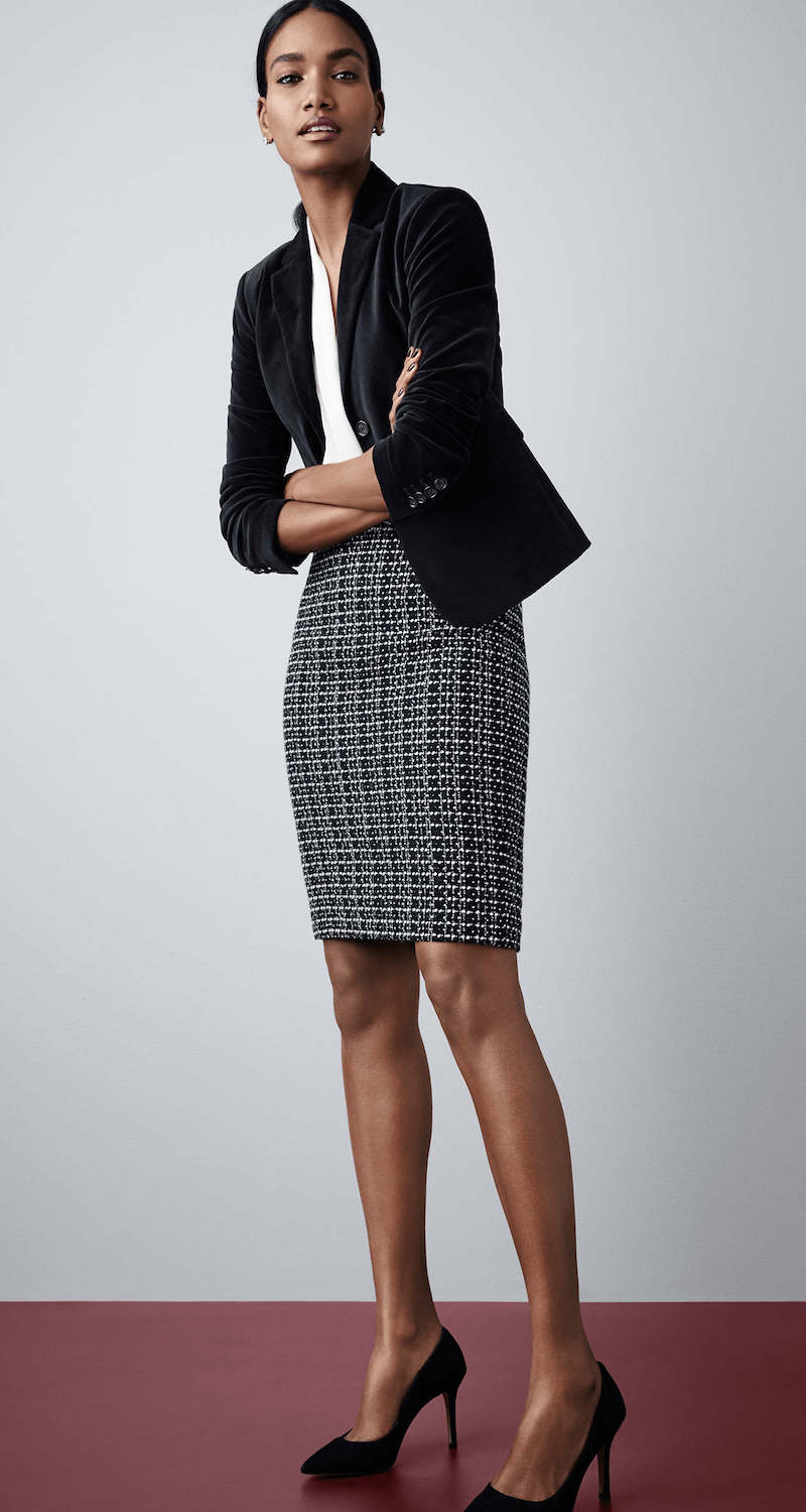Ann Taylor Tweed Pencil Skirt