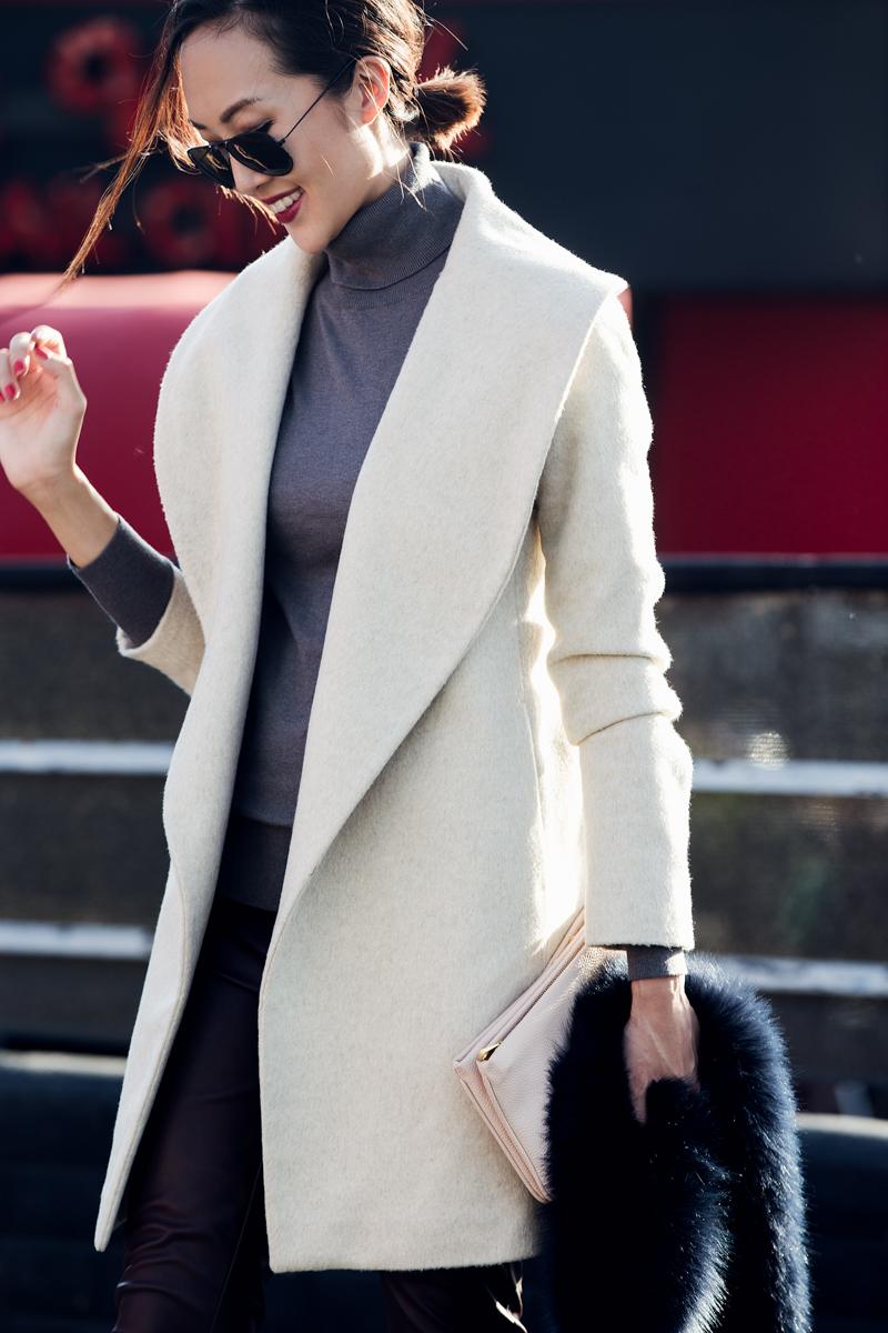 Ann Taylor Wrap Tie Coat