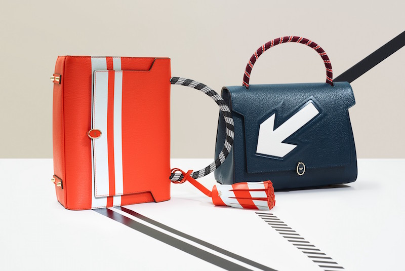 Anya Hindmarch Bathurst Reflective-stripe Leather Tote