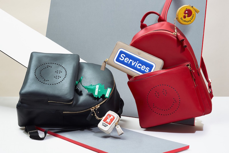 Anya Hindmarch Smiley Leather Backpack