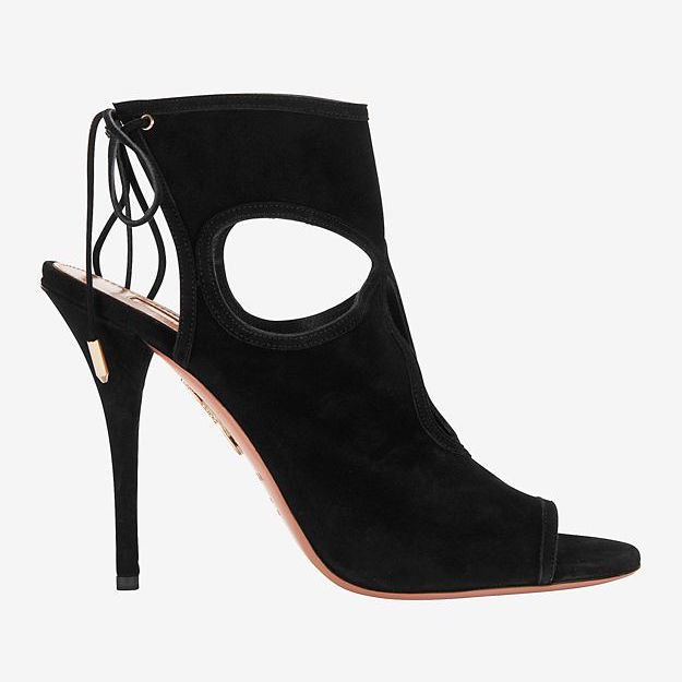 Aquazzura Sexy Thing Cut Out Suede Sandal